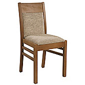 Sutcliffe Furniture Casual Dining Arley Dining Chair (Set of 2) - English Oak - Postbox Leather