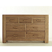 Thorndon Block Bedroom 3 Over 4 Drawer Chest in Natural Matured Oak