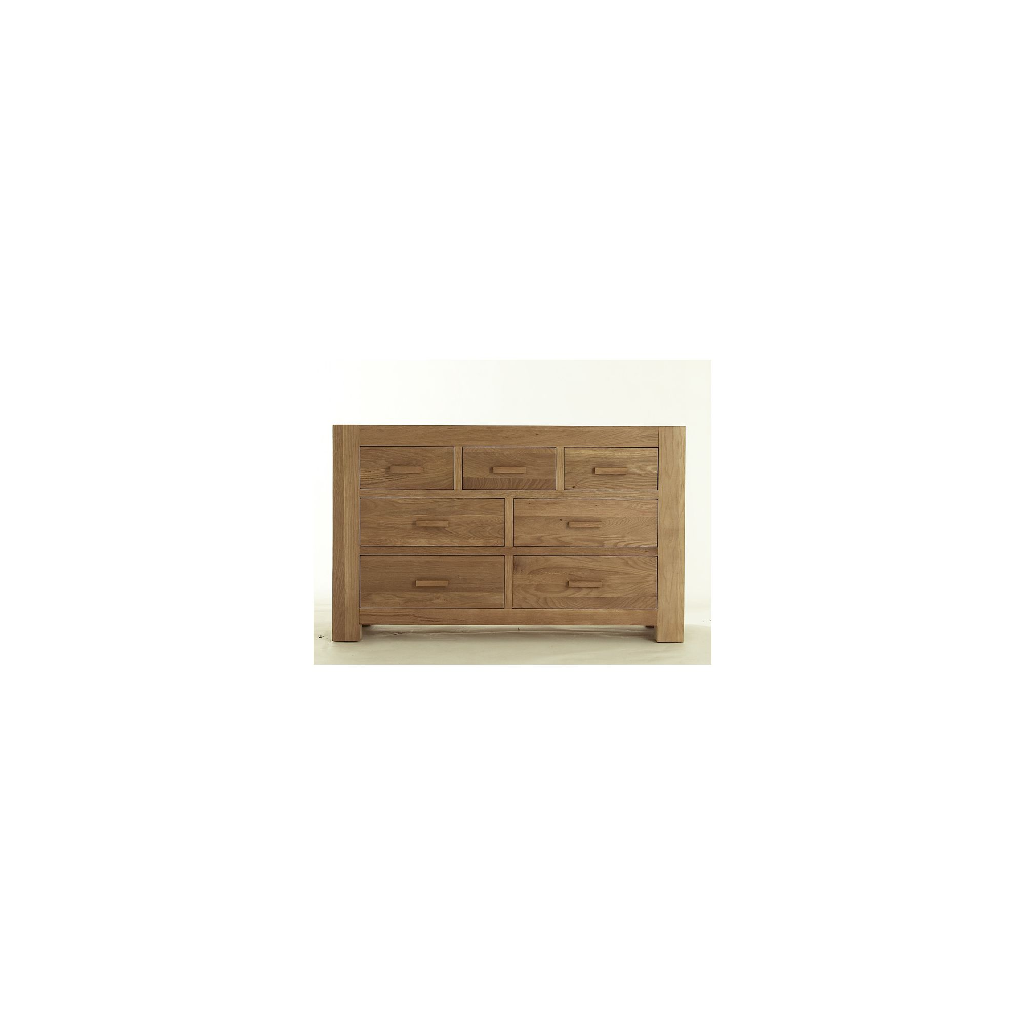 Thorndon Block Bedroom 3 Over 4 Drawer Chest in Natural Matured Oak at Tesco Direct
