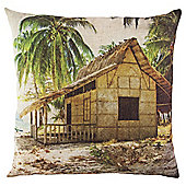 Beach Hut Cushion 43 x 43cm