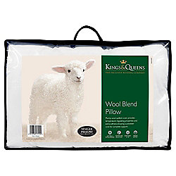 Kings & Queens Quilted Wool Blend Pillow