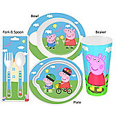 Polar Gear - Peppa Pig Meal Time Cutlery Set - (Plate/Bowl/Beaker/Cutlery)