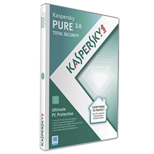 Kaspersky Pure v3 Total Security 3 User 1 Year DVD Box