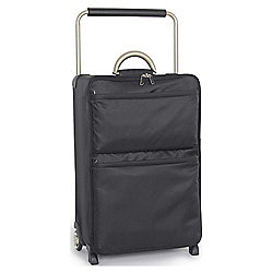 IT Luggage World's Lightest 2-Wheel Suitcase, Black Medium