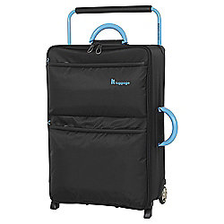 IT Luggage World's Lightest 2-Wheel Medium Black Suitcase