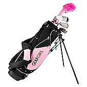 Golf Girls Pink Junior Golf Clubs Set Bag Age 4-7 Kids