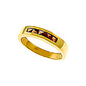 QP Jewellers 0.60ct Garnet Princess Prestige Ring in 14K Gold