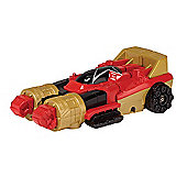Power Rangers Super Megaforce Zord Vehicle With Figure - Zeo Red Battle Zord