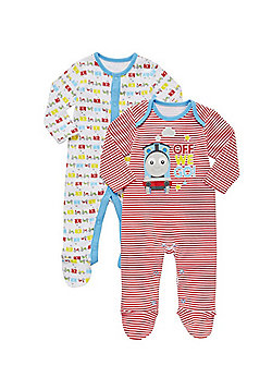 Thomas & Friends 2 Pack of Sleepsuits - Multi