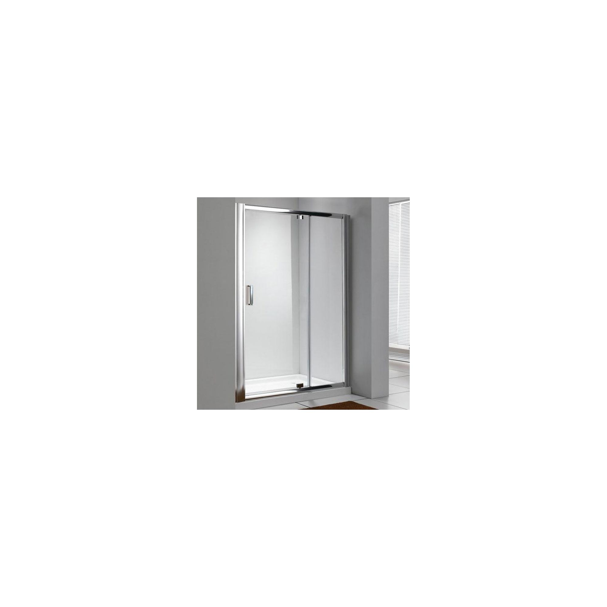 Duchy Style Pivot Shower Door, 1200mm Wide, 6mm Glass at Tesco Direct