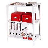 Two Shelf Storage Unit - White