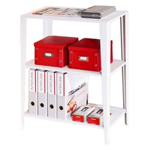 Chelsea- Two Shelf Storage Unit - White