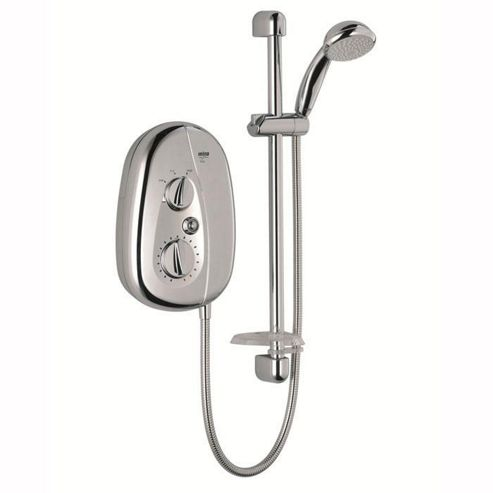 Mira Vie 9.5 kW Electric Shower, 5 Spray Handset, Chrome