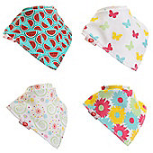 Zippy Fun Baby Bandana Drool Bibs (4 Pack Gift Set) Pink & Yellow