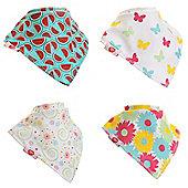 Zippy Fun Baby Bandana Drool Bibs (4 Pack Gift Set) Pink & Yellow