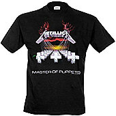 Metallica - Master Of Puppets T-shirt Black Ex Large - Music T-Shirts