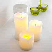 Set of 3 Mini Dripping Wax Battery LED Candles