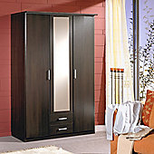 Amos Mann furniture Venice 3 Door 2 Drawer Wardrobe - Wenge