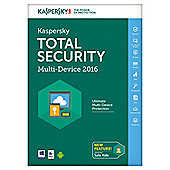 KASPERSKY TOTAL SECURITY 2016 MULTI-DEVICE 3 DEVICE 1YR