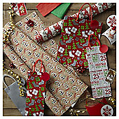 Cute Bear Christmas Wrapping Paper and Accessories Pack