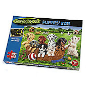 Glow In the Dark 'Puppies Eyes' 100 Piece Jigsaw Puzzle Game