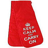 Keep Calm and Carry on Oven Gloves