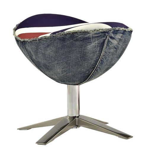 Buy CC Furnishing Egg Chair Footstool Union Jack Print
