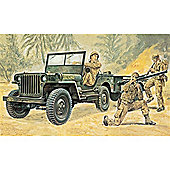 Willys MB Jeep With Trailer - 1:35 Scale - 314 - Italeri
