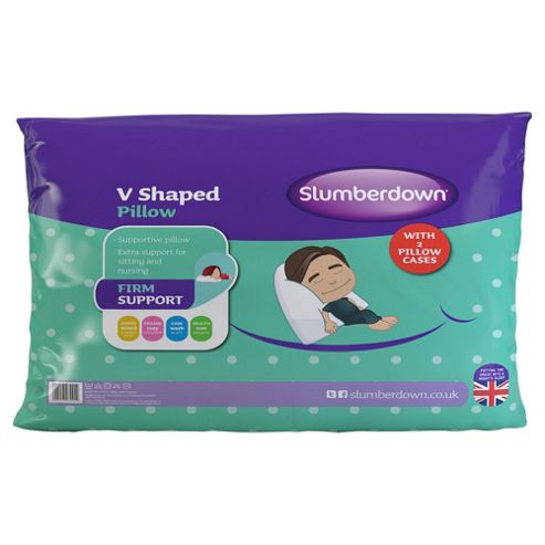 Slumberdown V Shaped Pillow with 2 Pillow Cases