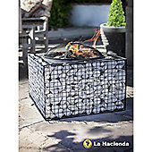 Square Shaped Mesh Firepit with Grill