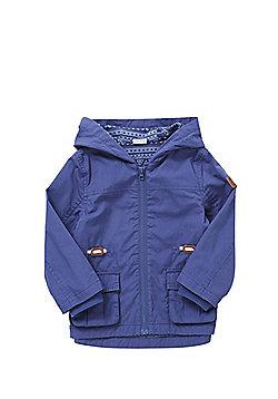 F&F Patch Pocket Hooded Mac - Blue