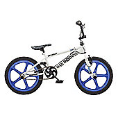 Rooster Big Daddy 18 BMX White/Blue with Skyway Mag Wheels