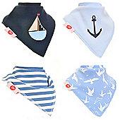 Zippy Nautical Bandana Dribble Bibs, 4 pack, one size
