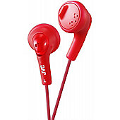 JVC XS15 Gumy Base Boost Stereo Headphones Red