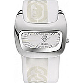 Marc Ecko Mens White Rubber Strap White Dial Watch E15090G2