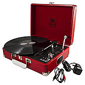 GPO Attache Suitcase Turntable, Red