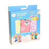 Cloudbabies for Zippy - Muslin Squares (3 Pack) Girls Pink