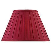 Endon Lighting Box Pleat Shade - 20.5 cm x 30.5 cm - Red