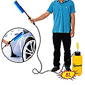 Outsunny 8L Car Washer Portable Hand Pump Action High Pressure Sprayer Cleaner Water Wash Hose