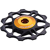Acor Super Light Alloy Jockey Wheel: Black.