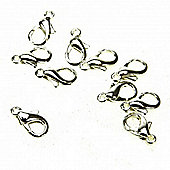 Lobster Clasp - Silver 10mm - 10 Pack