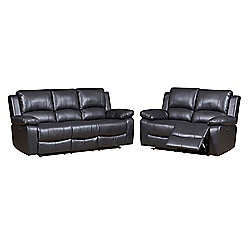 Jordan Three Plus Two Seater Recliner Sofa Black