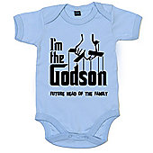 Dirty Fingers I'm the Godson future head of the family Baby Bodysuit - Blue