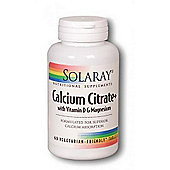 Solaray Calcium Citrate With Vitamin D And Magnesium 60 Tablets