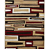Think Rugs Matrix Beige/Red Rug - 120 cm x 170 cm (3 ft 9 in x 5 ft 7 in)
