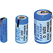 Tagged Industrial High Capacity NiCd Batteries ( Ind NiCd 4/5SubC Tag )