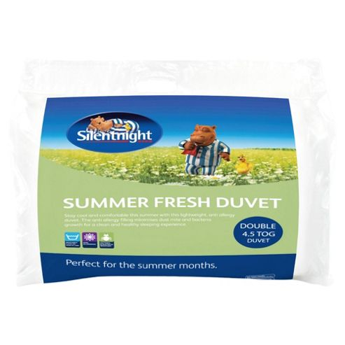 Silentnight Summer Fresh Flow 4.5 Tog Double Duvet With 2 Pillows