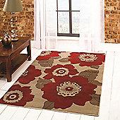 Sincerity Modern Blossom Red 160x230 cm Rug