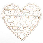 Decorative Metal Wall Jewellery Holder - Cream