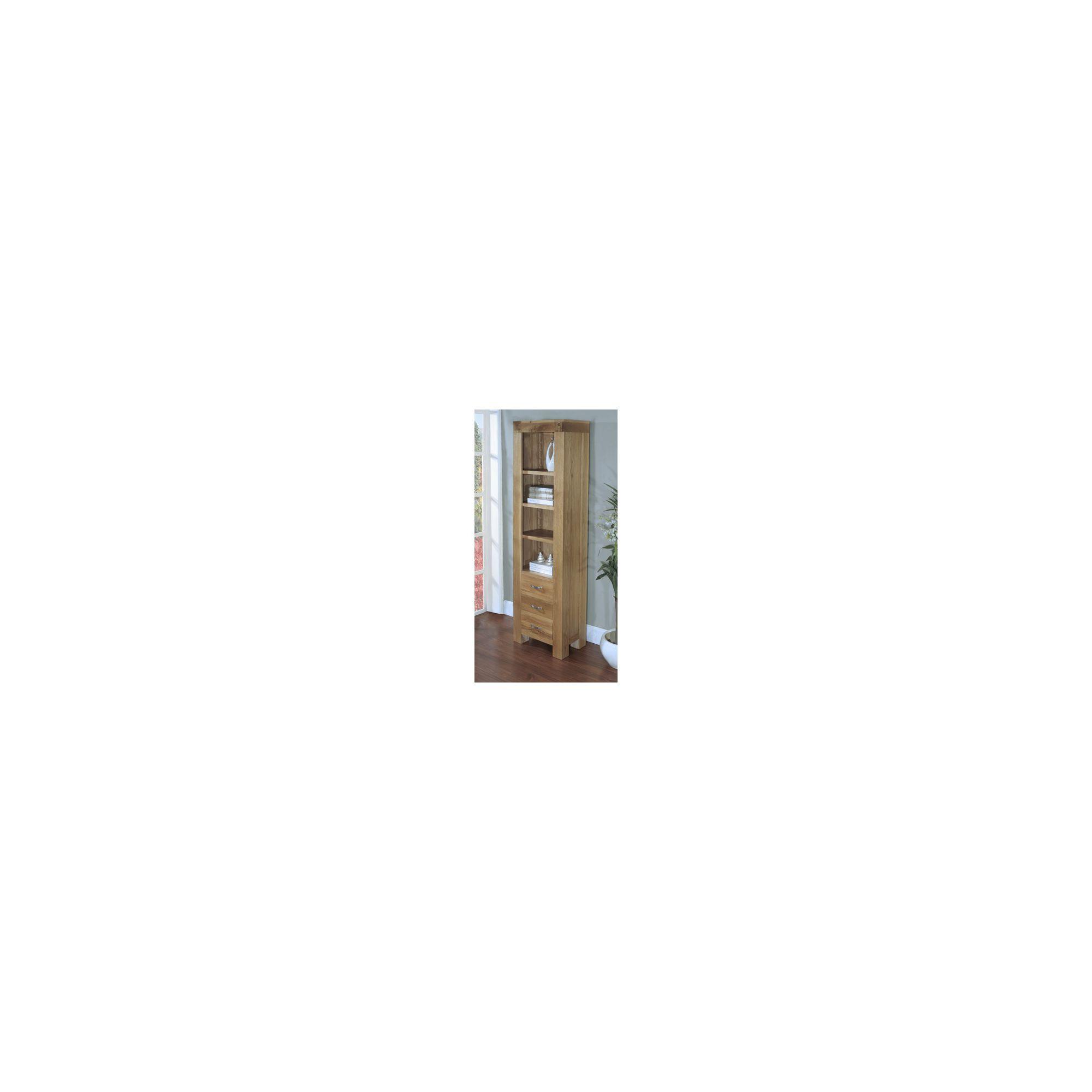 Hawkshead Rustic Oak Blonde Slim Bookcase at Tesco Direct